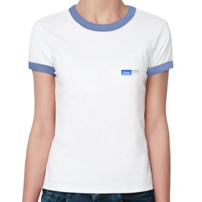 Женская футболка Ringer-T Free! (женская)