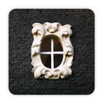 Костер (подставка под кружку) Узорное окно