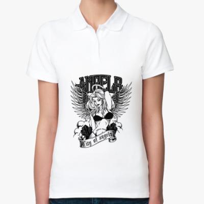 Женская рубашка поло Ангел