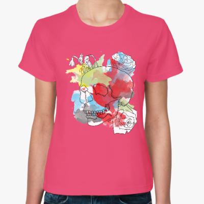 Женская футболка Февральский череп