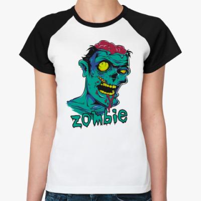 Женская футболка реглан Zombie
