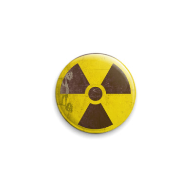 Значок 25мм   'Радиация'