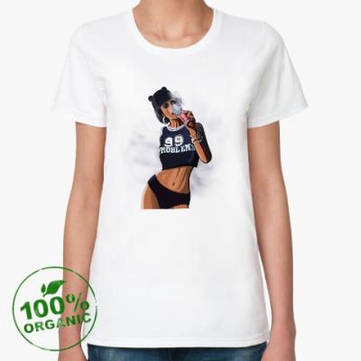 Женская футболка из органик-хлопка Девушка swag