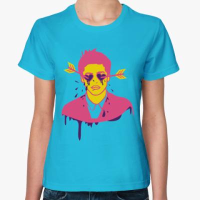 Женская футболка Любовь слепа.