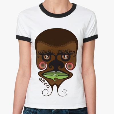 Женская футболка Ringer-T   'Этно'