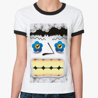 Женская футболка Ringer-T ' Ы '