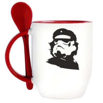 Кружка с ложкой Че Гевара штурмовик
