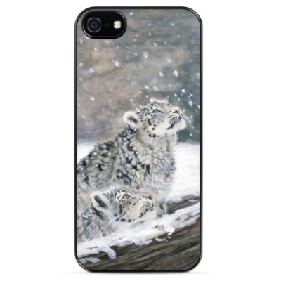 Чехол для iPhone Снежные барсы