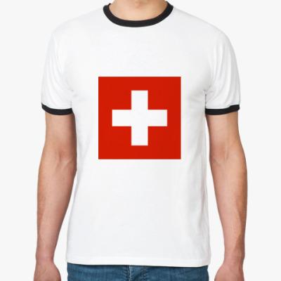 Футболка Ringer-T  Швейцария
