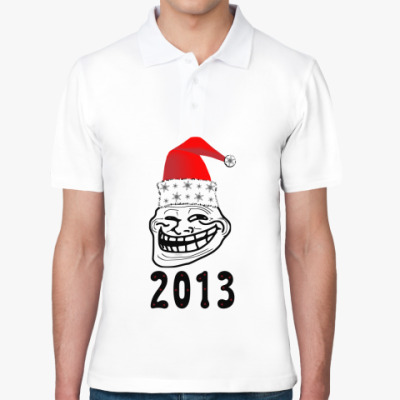Рубашка поло Trollface: happy new year