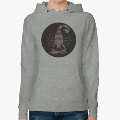 Женская толстовка худи Animal Zen: S is for Scorpion