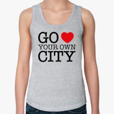 Женская майка Love your own city