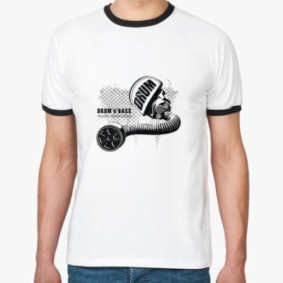 Футболка Ringer-T D'n'B music revolution