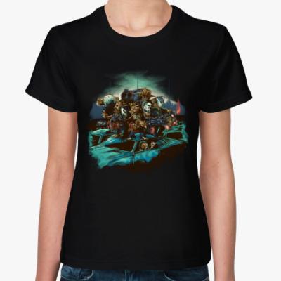 Женская футболка Рассвет ночного кошмара