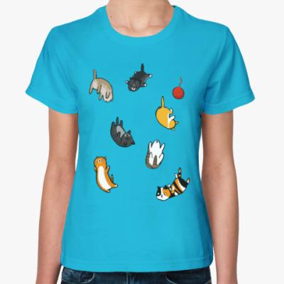Женская футболка Котопад