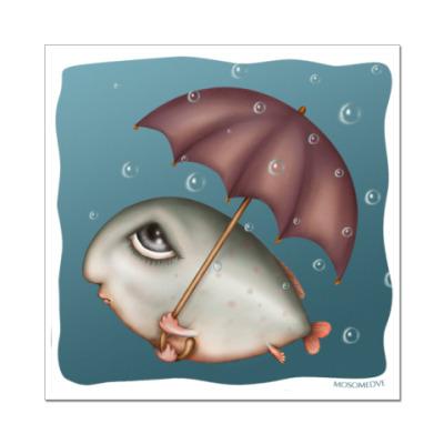 Наклейка (стикер)  Рыба