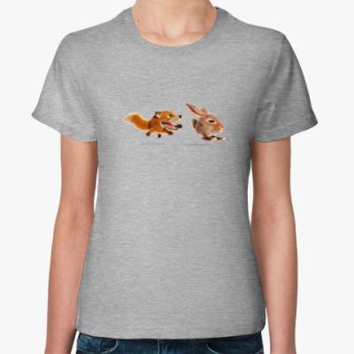 Женская футболка Догоню-поймаю-съем!