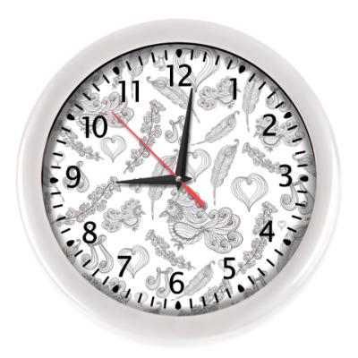 Настенные часы 'Птица Счастья'