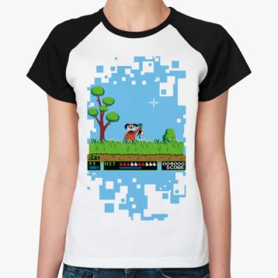 Женская футболка реглан Duck Hanter