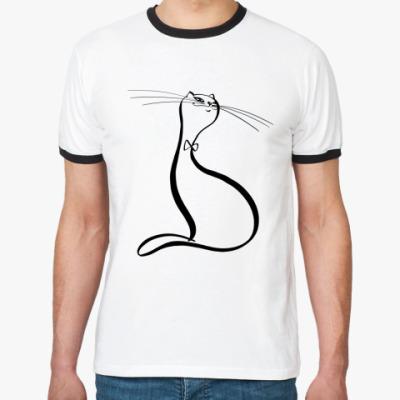 Футболка Ringer-T Красивый кот