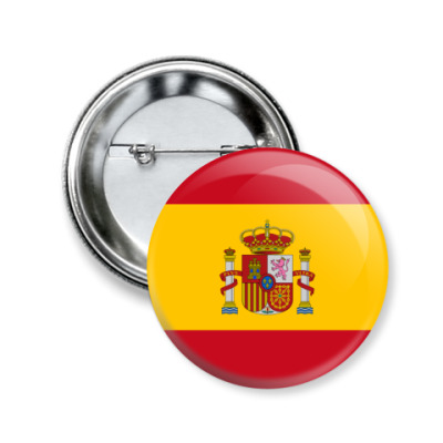 Значок 50мм Испания, Spain