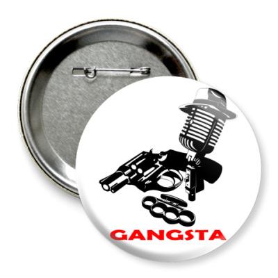 Значок 75мм Rap Gangsta