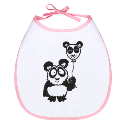 Слюнявчик Панда с шариком