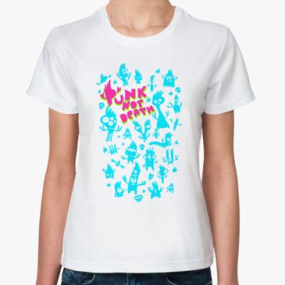 Классическая футболка панкс нот деат