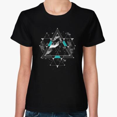 Женская футболка Пространство и время