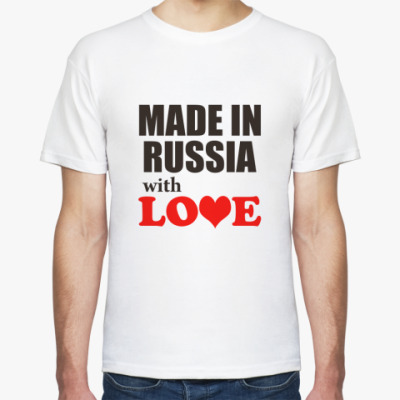 Футболка Made in Russia with love