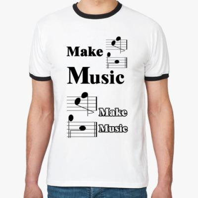 Футболка Ringer-T 'Make Music'