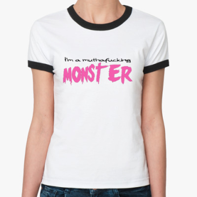 Женская футболка Ringer-T   Monster