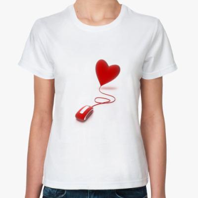 Классическая футболка Мышка и сердце