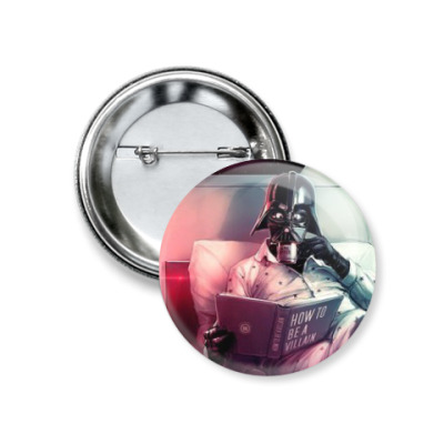 Значок 37мм Дарт Вейдер,звездный войны,пижамка,Star Wars