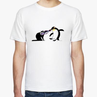 Футболка Кот и Пингвин