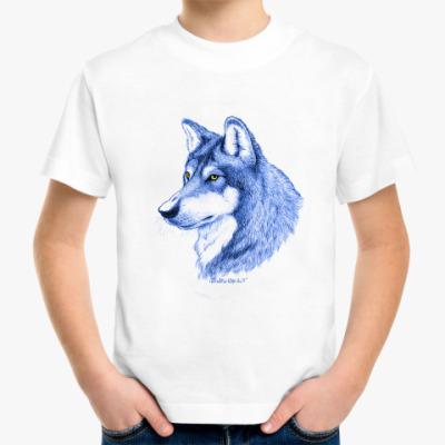 Детская футболка 'Лесной волк'