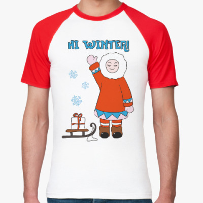 Футболка реглан Hi Winter: зима, которая всегда с тобой