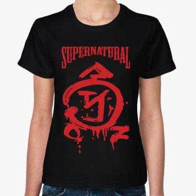 Женская футболка Supernatural - Знак Ангела