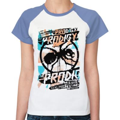 Женская футболка реглан  Жен The Prodigy Ant