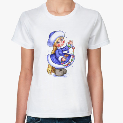 Классическая футболка снегурочка