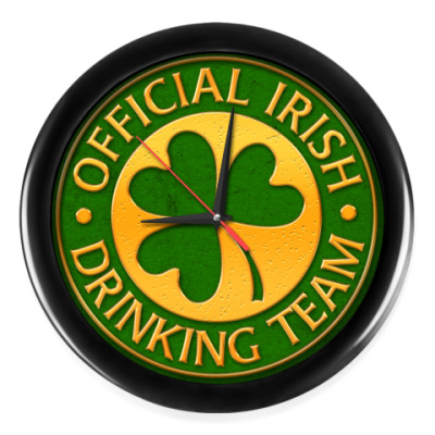 Настенные часы Official Irish drinking team