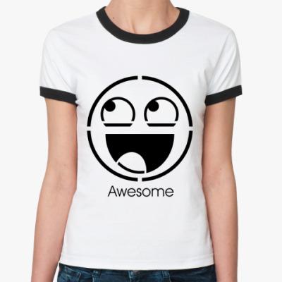 Женская футболка Ringer-T Awesome