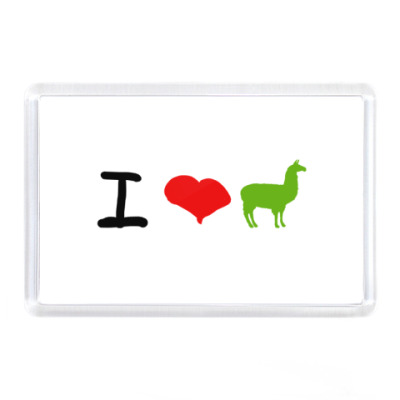 Магнит Love Llamas