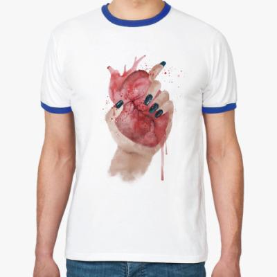 Футболка Ringer-T Сердце в руке