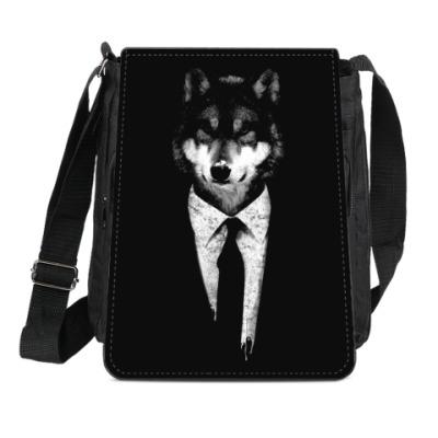 Сумка-планшет Мистер Волк