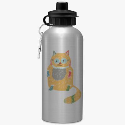 Спортивная бутылка/фляжка Котик