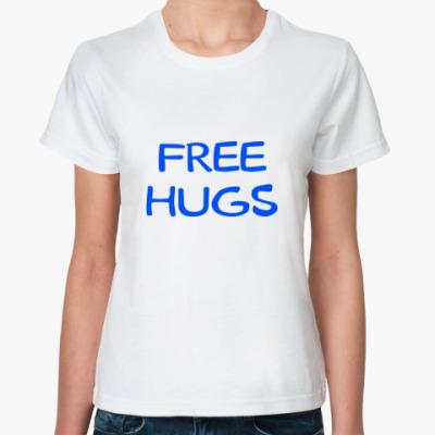 Классическая футболка Free Hugs