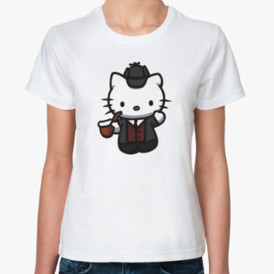Классическая футболка Китти Шерлок