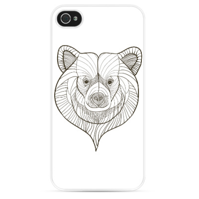 Чехол для iPhone Голова медведя