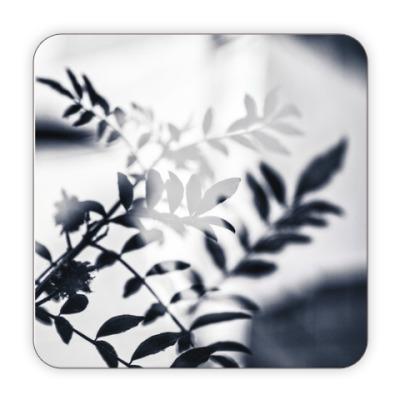 Костер (подставка под кружку) Black leaves